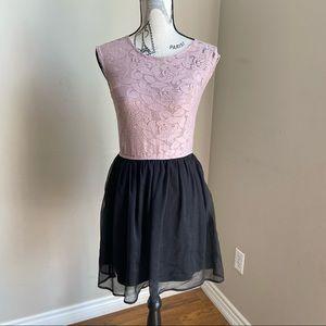 Dynamite lace and chiffon dress